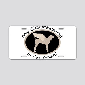 Coonhound is an Angel Aluminum License Plate