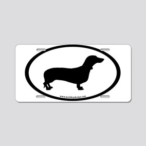 Dachshund Oval Aluminum License Plate