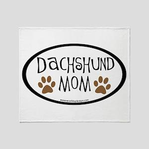 Dachshund Mom Oval Throw Blanket
