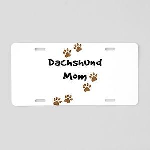 Dachshund Mom Aluminum License Plate