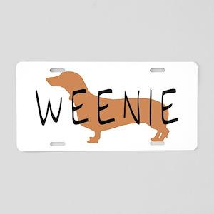 weenie dog dachshund Aluminum License Plate