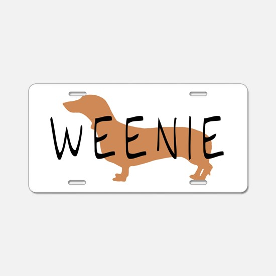 weenie dog dachshund Aluminum License Plate