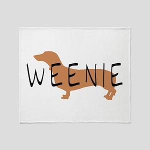 weenie dog dachshund Throw Blanket
