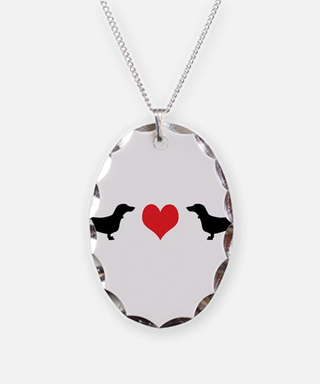 Dachshunds & Heart Necklace