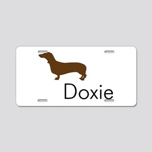 Doxie Dachshund Dog Aluminum License Plate