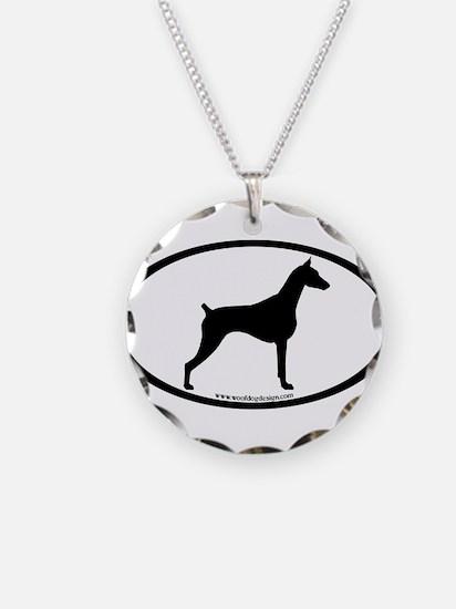 Doberman Pinscher Oval Necklace