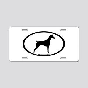 Doberman Pinscher Oval Aluminum License Plate