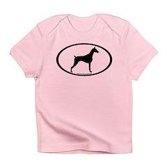 Doberman Pinscher Oval Infant T-Shirt