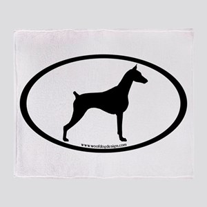 Doberman Pinscher Oval Throw Blanket