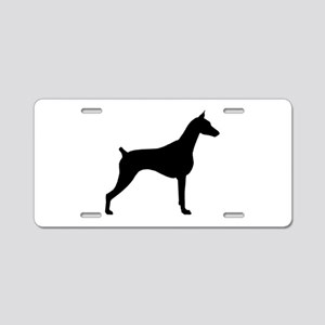 Doberman Pinscher Aluminum License Plate