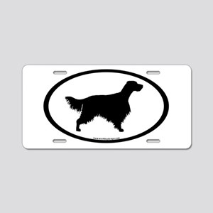 English Setter Oval Aluminum License Plate