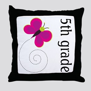 Cute Fifth Grade Throw Pillow