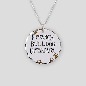 French Bulldog Grandma Necklace Circle Charm
