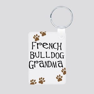French Bulldog Grandma Aluminum Photo Keychain