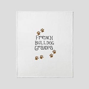 French Bulldog Grandpa Throw Blanket