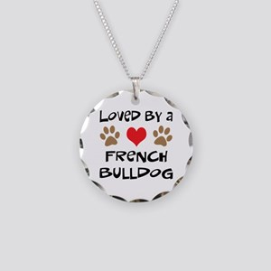 Loved By A French Bulldog Necklace Circle Charm