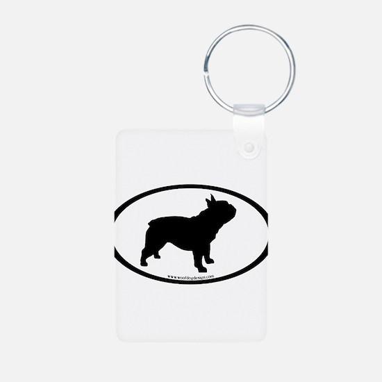 French Bulldog Oval Keychains