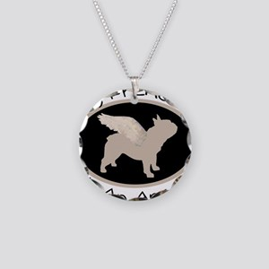 Frenchie Is An Angel Necklace Circle Charm