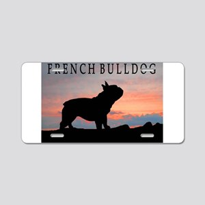 French Bulldog Sunset Aluminum License Plate