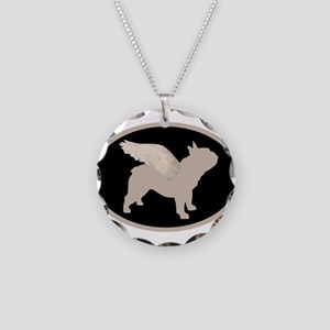 french bulldog wings Necklace Circle Charm