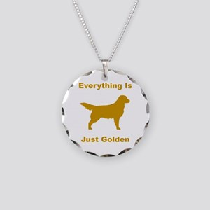Just Golden Necklace Circle Charm