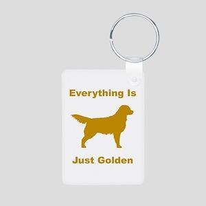 Just Golden Aluminum Photo Keychain