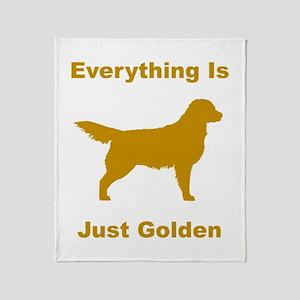 Just Golden Throw Blanket