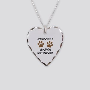 Owned By A Golden... Necklace Heart Charm