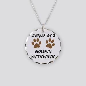 Owned By A Golden... Necklace Circle Charm