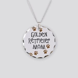 Golden Retriever Mom Necklace Circle Charm
