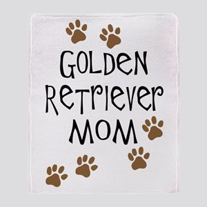 Golden Retriever Mom Throw Blanket