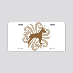 Tan & Brown Great Dane Aluminum License Plate