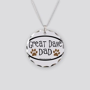 Great Dane Dad Necklace Circle Charm