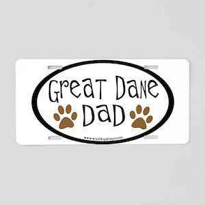 Great Dane Dad Aluminum License Plate