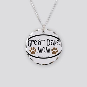 Great Dane Mom Oval Necklace Circle Charm