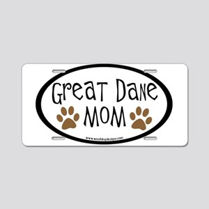 Great Dane Mom Oval Aluminum License Plate