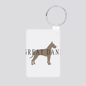 great dane greytones Aluminum Photo Keychain