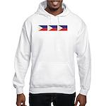 3 Philippine Flags Hooded Sweatshirt