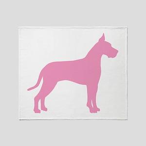 Pink Great Dane Throw Blanket