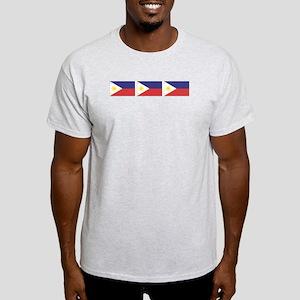 3 Philippine Flags Ash Grey T-Shirt