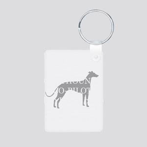 Greyhound Attendant Aluminum Photo Keychain