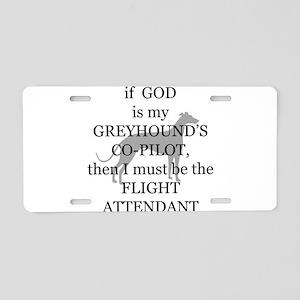 Greyhound Attendant Aluminum License Plate