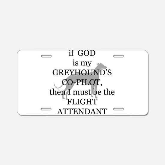 Greyhound Attendant Aluminum License Plate