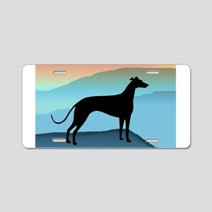greyhound blue mt. Aluminum License Plate
