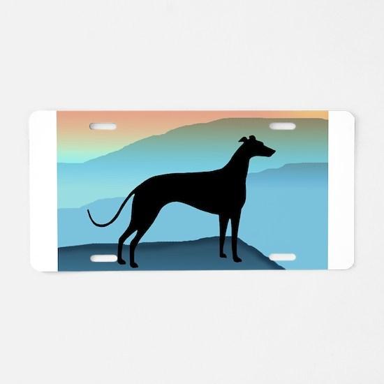 greyhound blue mt. Aluminum License Plate