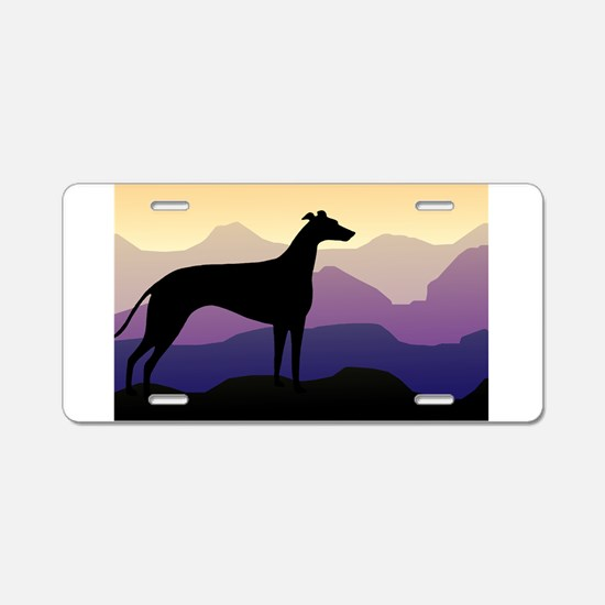 Funny Greyhound Aluminum License Plate