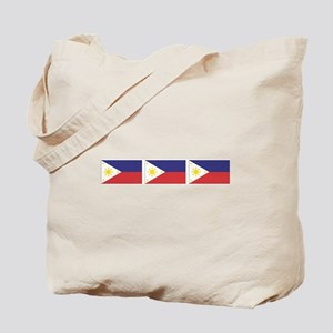 3 Philippine Flags Tote Bag