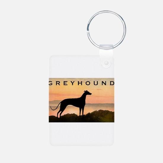 Greyhound Sunset Keychains