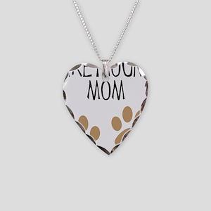 Greyhound Mom Necklace Heart Charm