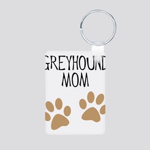 Greyhound Mom Aluminum Photo Keychain